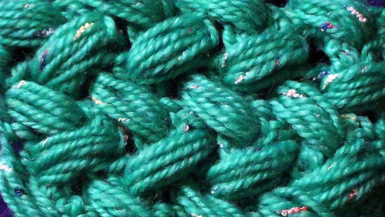 узор пышный столбик схема вязания крючком