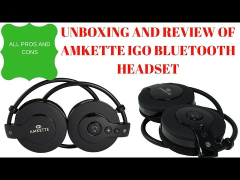 Amkette Igo Trubeats bluetooth headset Unboxing and review | all pros and cons-[Hindi]