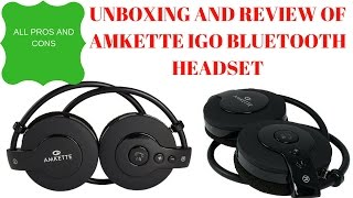 Amkette Igo Trubeats bluetooth headset Unboxing and review all pros and cons- Hindi