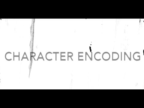 What is a character encoding, and why is it matters?