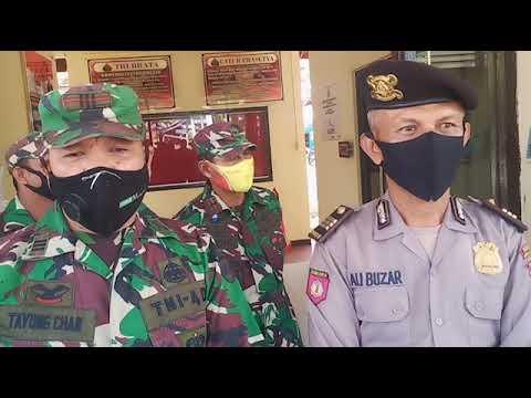 Hut Bhayangkara ke 74, Anggota TNI Ramai-ramai Geruduk kantor Polsek Bangko