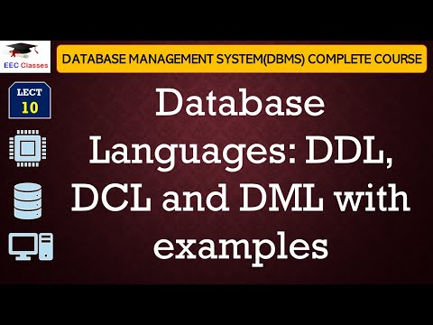 Database Languages - DDL, DCL, DML with example in Hindi and English
