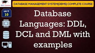 vuclip Database Languages - DDL, DCL, DML with example in Hindi and English