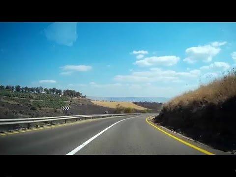 Driving from Rosh Pina to Tiberias נסיעה מראש פינה לטבריה