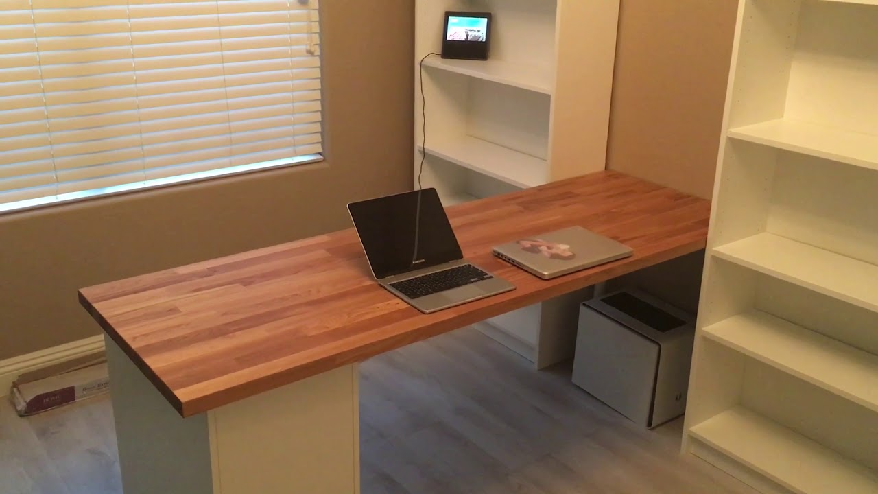 Ikea Desk Hack Karlby Oak New Work Battle Station Part 1