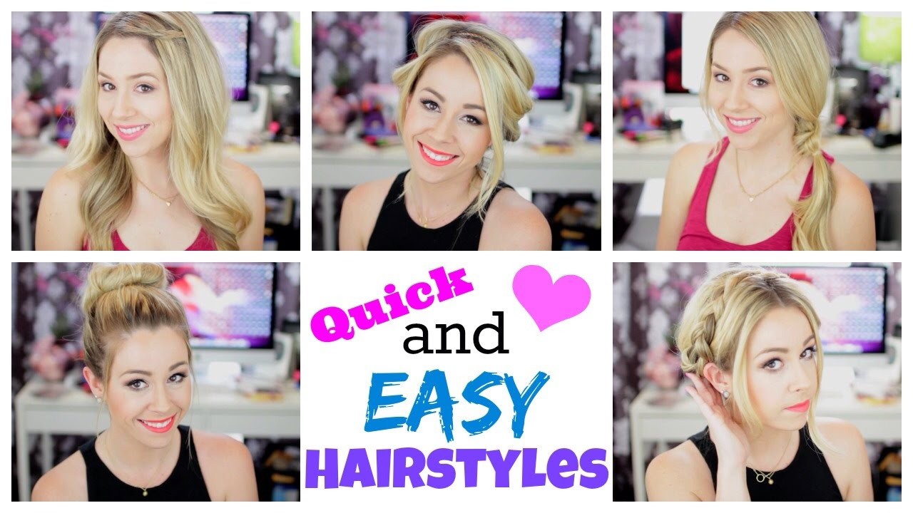 quick and easy hairstyles for summer!