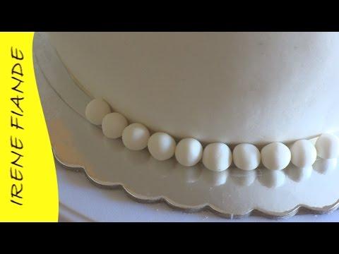 Приготовление мастики и украшение торта