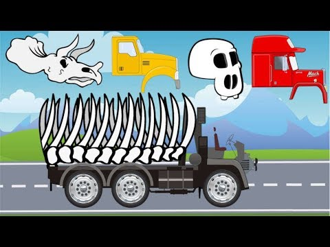 Trucks Street Vehicles | Excavators, Dump Truck, Tow Truck, Garbage Truck | Video For Kids