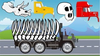Trucks Street Vehicles | Excavators, Dump Truck, Tow Truck, Garbage Truck | Video For Kids thumbnail