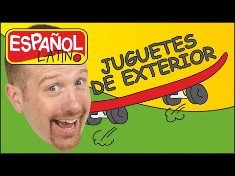 juguetes-de-exterior- -juguetes-de-aire-libre- -español-con-steve-and-maggie- -cuentos-infantiles