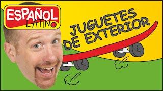 Juguetes de Exterior | Juguetes de Aire Libre | Español con Steve and Maggie | Cuentos Infantiles