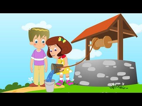 Jack and Jill | Nursery Rhyme with lyrics | Kids Tv Nursery Rhymes For Toddlers | Cartoons For Kids