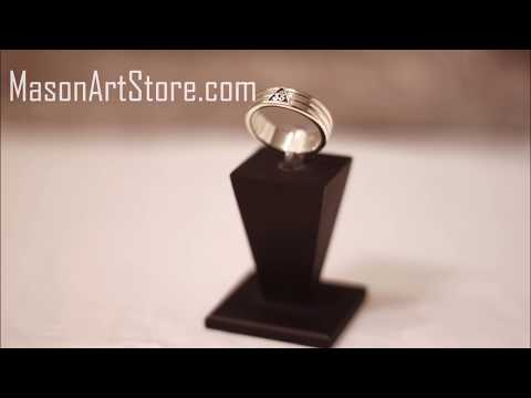 Silver Masonic Ring - Scottish Rite 33rd Degree Masonic Band Ring