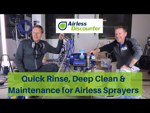 Quick Rinse, Deep Clean & Maintenance of your Airless Sprayer with Ian Crump (PaintTech)