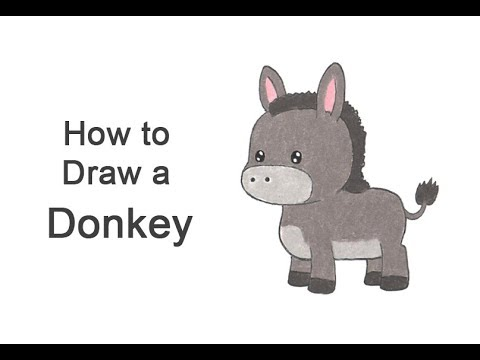 How To Draw A Donkey (Cartoon)