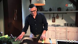 Салат с огурцом и киви и огуречный фреш-коктейль