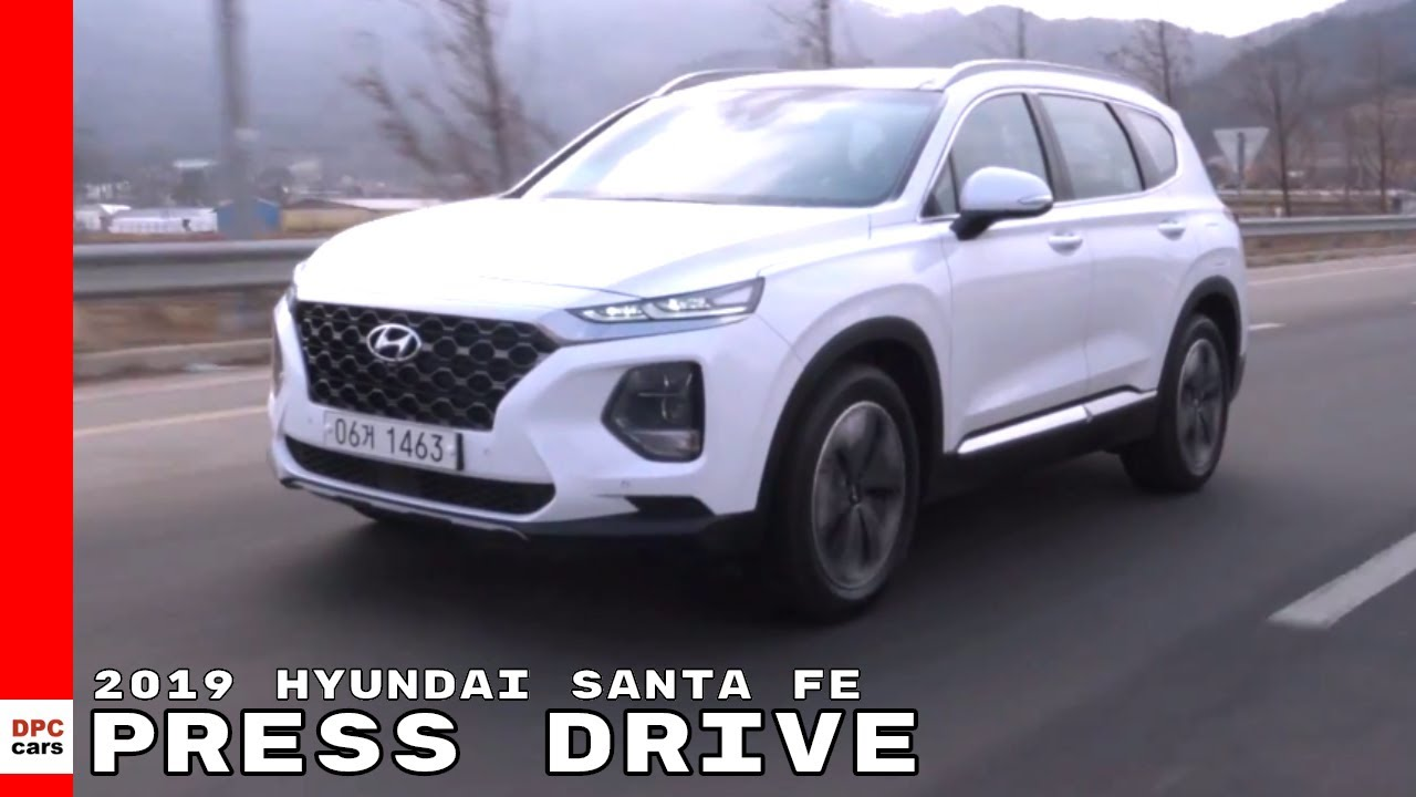 2019 Hyundai Santa Fe Press Drive Youtube