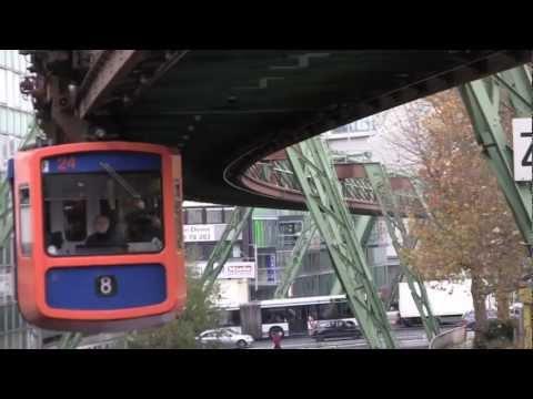 Wuppertal Schwebebahn, Germany - 21st November, 2012