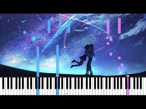 Kataware Doki - Kimi no Na wa [Piano Tutorial] // Just Keynime