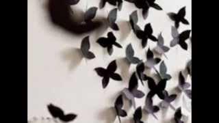 видео Бабочки на стену своими руками: декор из бумаги и трафаретов, как сделать украшение рисунком (фото)