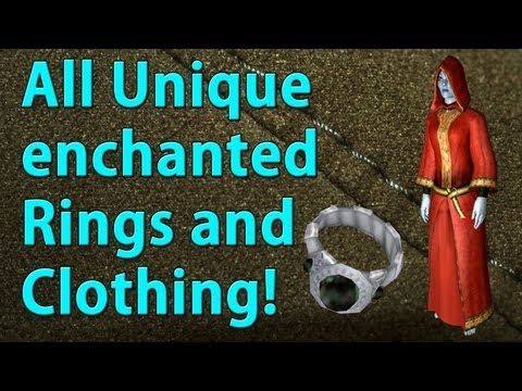 Oblivion - Where To Get All Unique Enchanted Rings And Clothing (Merchant Sold)