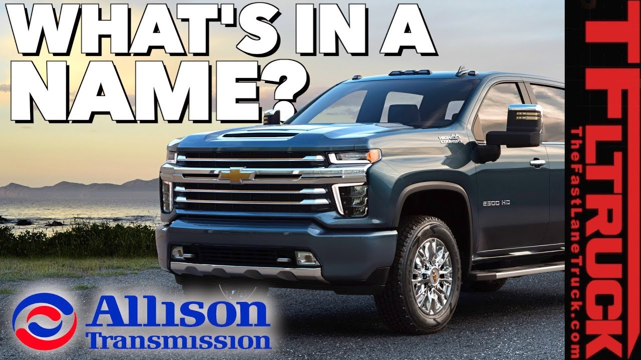 Will the 2020 Chevy HD Have a Genuine Allison Transmission ...
