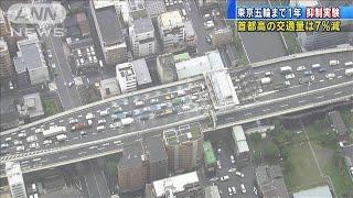 東京五輪まで1年 抑制実験で首都高の交通量7%減(19/07/26)