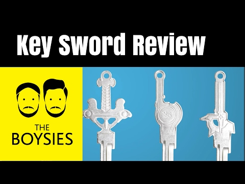 Episode 16 - Key Armoury Review - Sword Shaped Keys - BACKED by the Boysies - Kickstarter Reviews