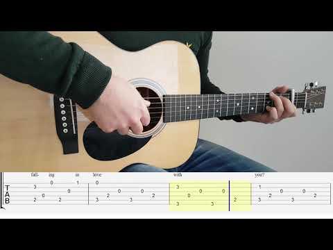 Can't Help Falling In Love (Elvis Presley) Fingerstyle Guitar TAB Tutorial / Playthrough
