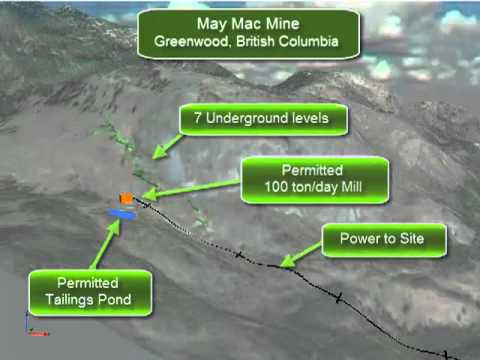 May Mac Underground Gold - Silver Mine, Greenwood B.C.