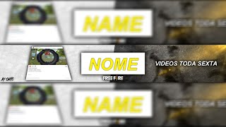 FREE FIRE - BANNER + TEMPLATE FREE | PHOTOSHOP |