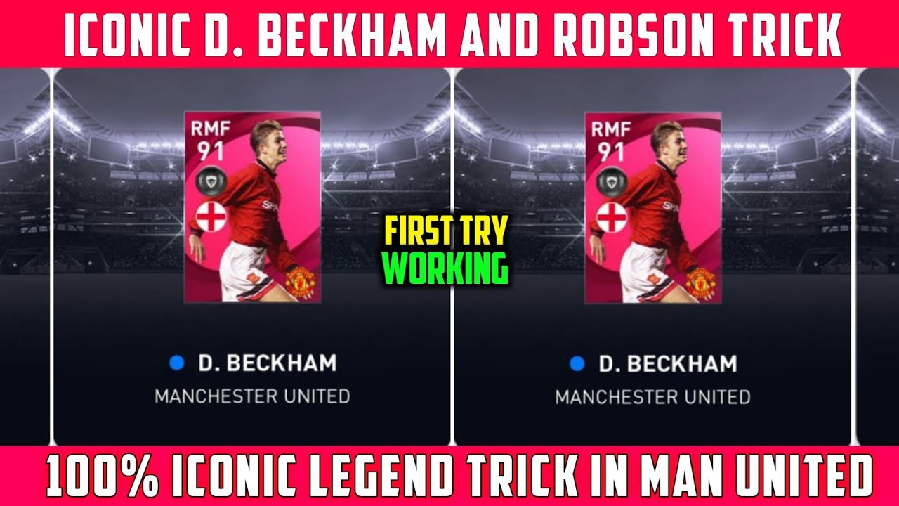 TRICK TO GET ICONIC D. BECKHAM AND ROBSON | MANCHESTER UNITED ICONIC MOMENTS | PES 2021
