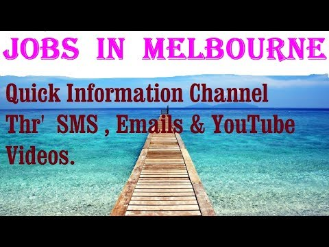 Jobs  in  MELBOURNE     City for freshers & graduates. industries, companies.  AUSTRALIA