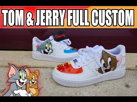 the best attitude 774b3 ceec0 FULL CUSTOM   TOM AND JERRY AF1 (HOW TO)