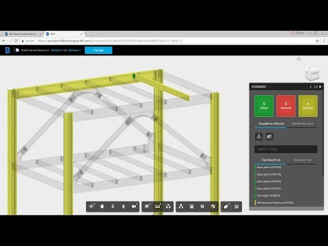 BIM 360 Team Compare Tool - Revit Model With Steel Connections
