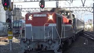 南海8300系甲種輸送 放出駅通過