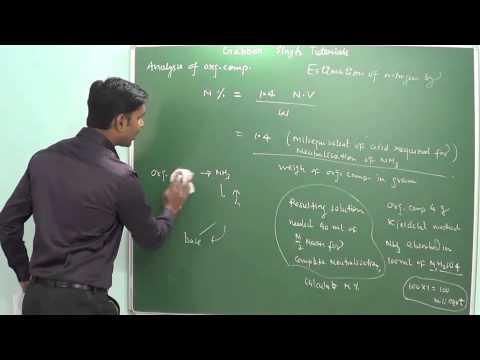 7.4 Estimation of nitrogen