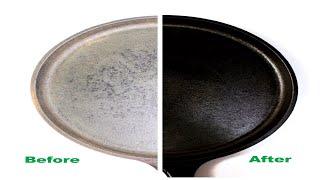 How to season cast iron skillet,tawa, pan without oven/How to season dosa tawa