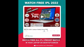 How To Watch LIVE IPL 2020 on Laptop Or Desktop In English