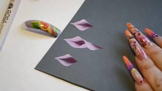 """Учимся китайке, урок 5.1 часть. Рисуем цветы """" Каллы""""."""
