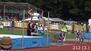 Danil Lysenko High jump Boys Final EYOF 2013 Jumps 212 cm
