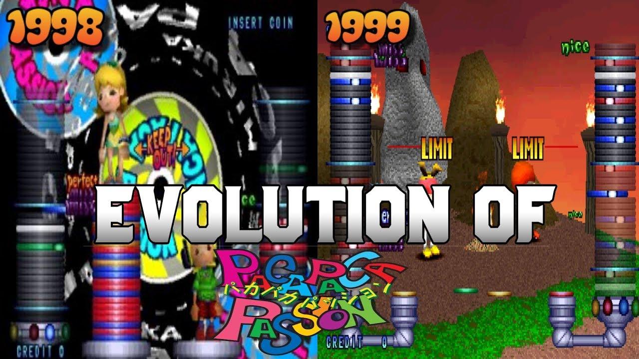 Graphical Evolution of Paca Paca Passion (1998-1999)