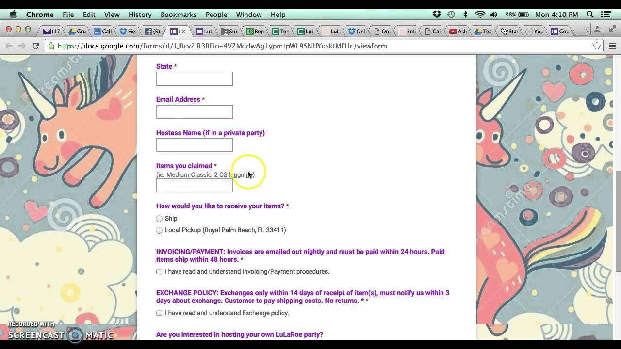 How To Create Google Form YouTube - Google forms invoice