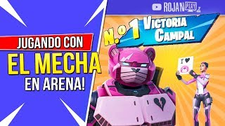 PLAYING ARENA SOLO WITH THE NEW SKIN MECHA FORTNITE GAMEPLAY