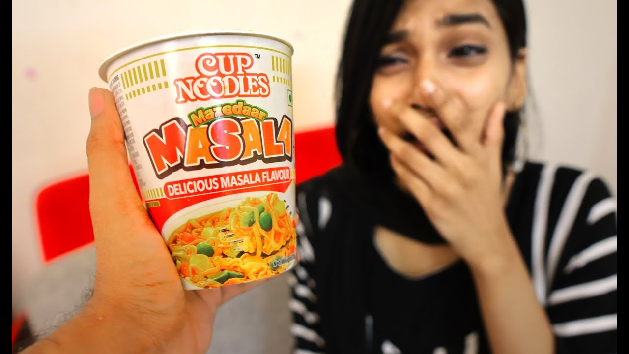 CUP NOODLES PRANK🤢🤢🤢 on my sister 🔥 UNBOXINGDUDE