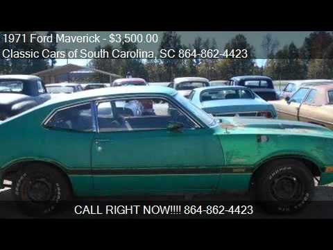 1971 ford maverick for sale in gray court sc 29645 at the c youtube. Black Bedroom Furniture Sets. Home Design Ideas