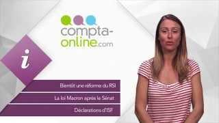 Réforme du RSI - La loi Macron après le Sénat - Déclarations d'ISF