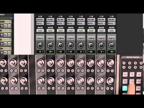 Working with Pro Tools - Pro Tools control from the Fader unit