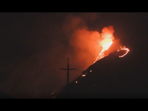 JUST HAPPENED: Fire in Kern River Canyon + White Lights