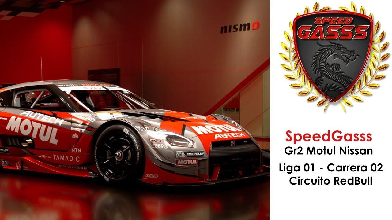 Gran Turismo Sport - SpeedGasss Gr2 Motul Nissan - Liga 1 - Carrera 02 Redbull